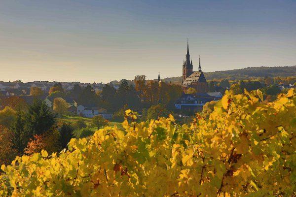 Kiedrich mit Kirche im Herbst   © DieBuben - Oliver Bube